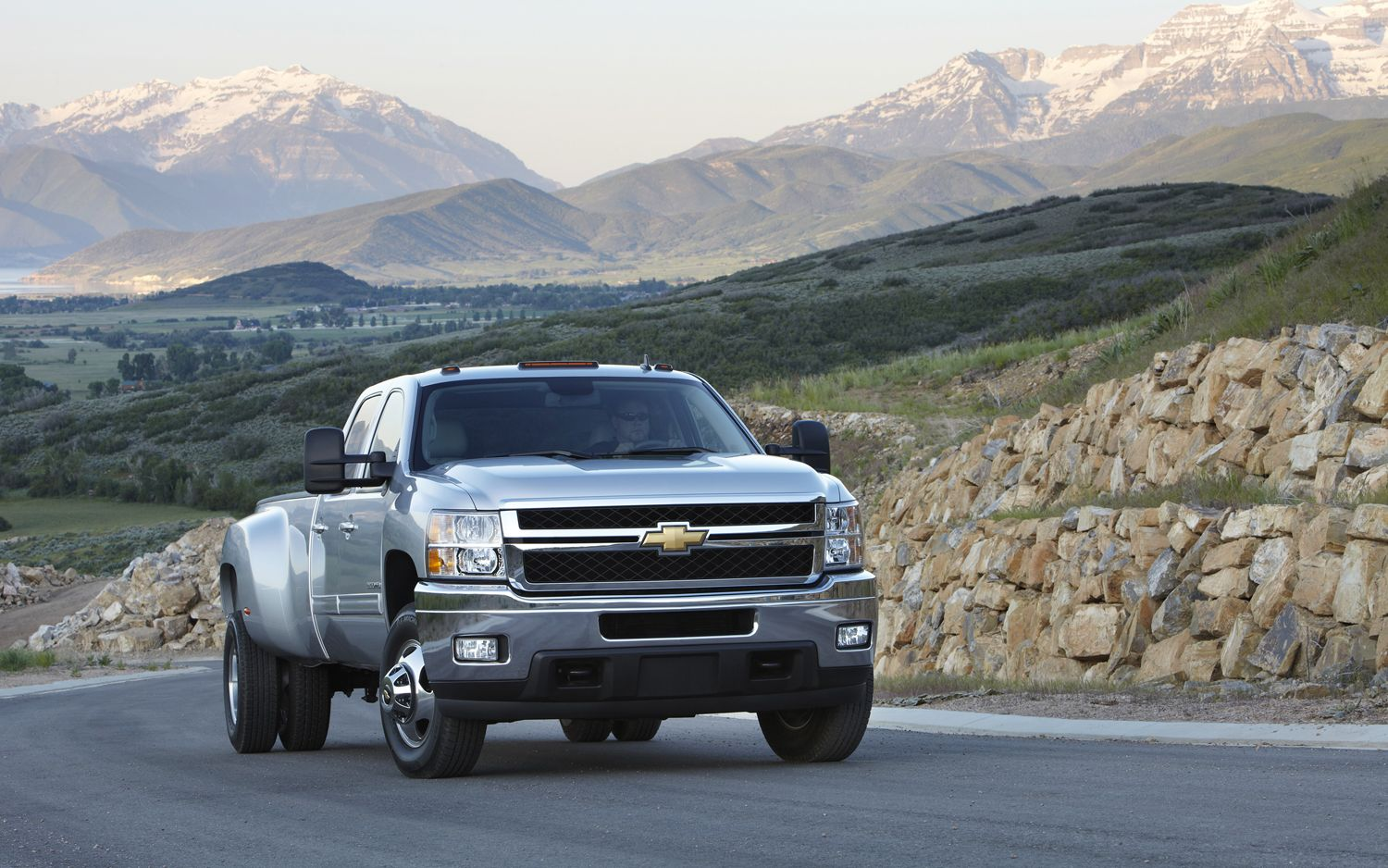 """Chevrolet Siilverado truck that has been """"lifted"""