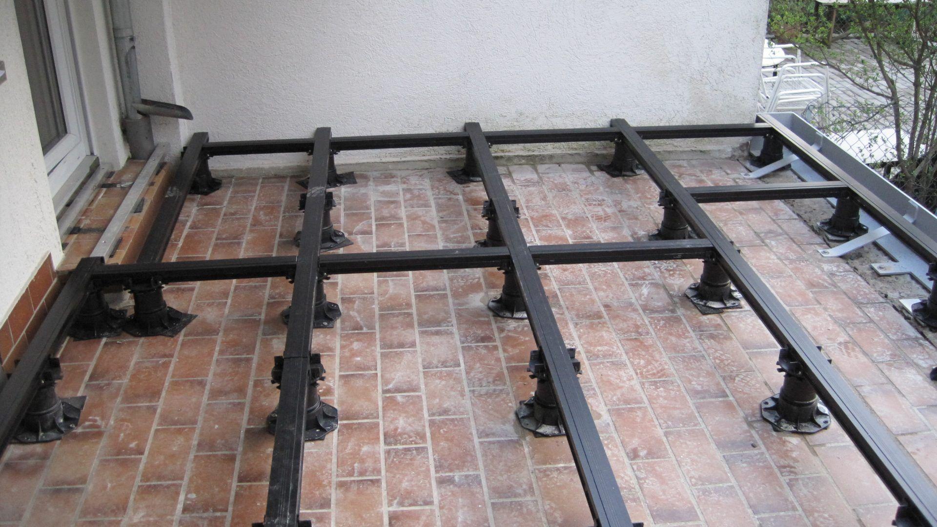 Alu Balkonboden Balkonboden Hintergarten Bodenbelag Balkon