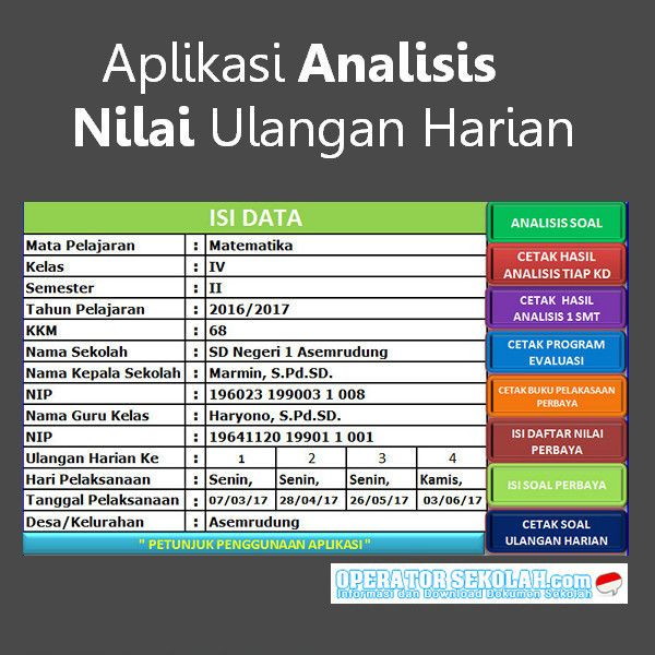 Download Aplikasi Analisis Nilai Ulangan Harian Format Excel Akan Mempermudah Guru Dalam Proses Analisis Nilai Ulangan Yang Sudah Microsoft Excel Excel Words