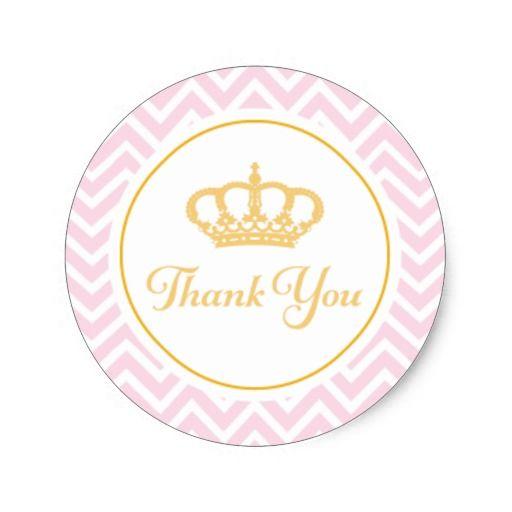 Adesivo Redondo Princesa Agradecimento Voce Tag Zazzle Com Br Thank You Tags Create Custom Stickers Greatful