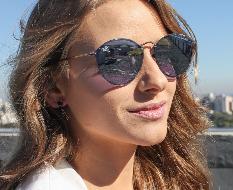 c52d96f15584a Óculos de Sol Ray Ban Blaze Round RB3574N-90351U   Outfit in 2019 ...