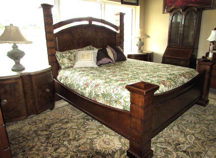 Drexel Heritage Insignia King Bed Plus 2 Nightstands