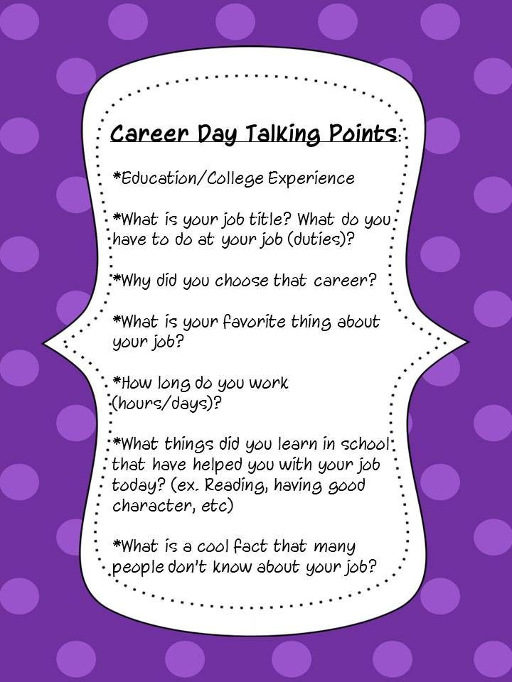 The Stylish School Counselor Career Day  Career Development