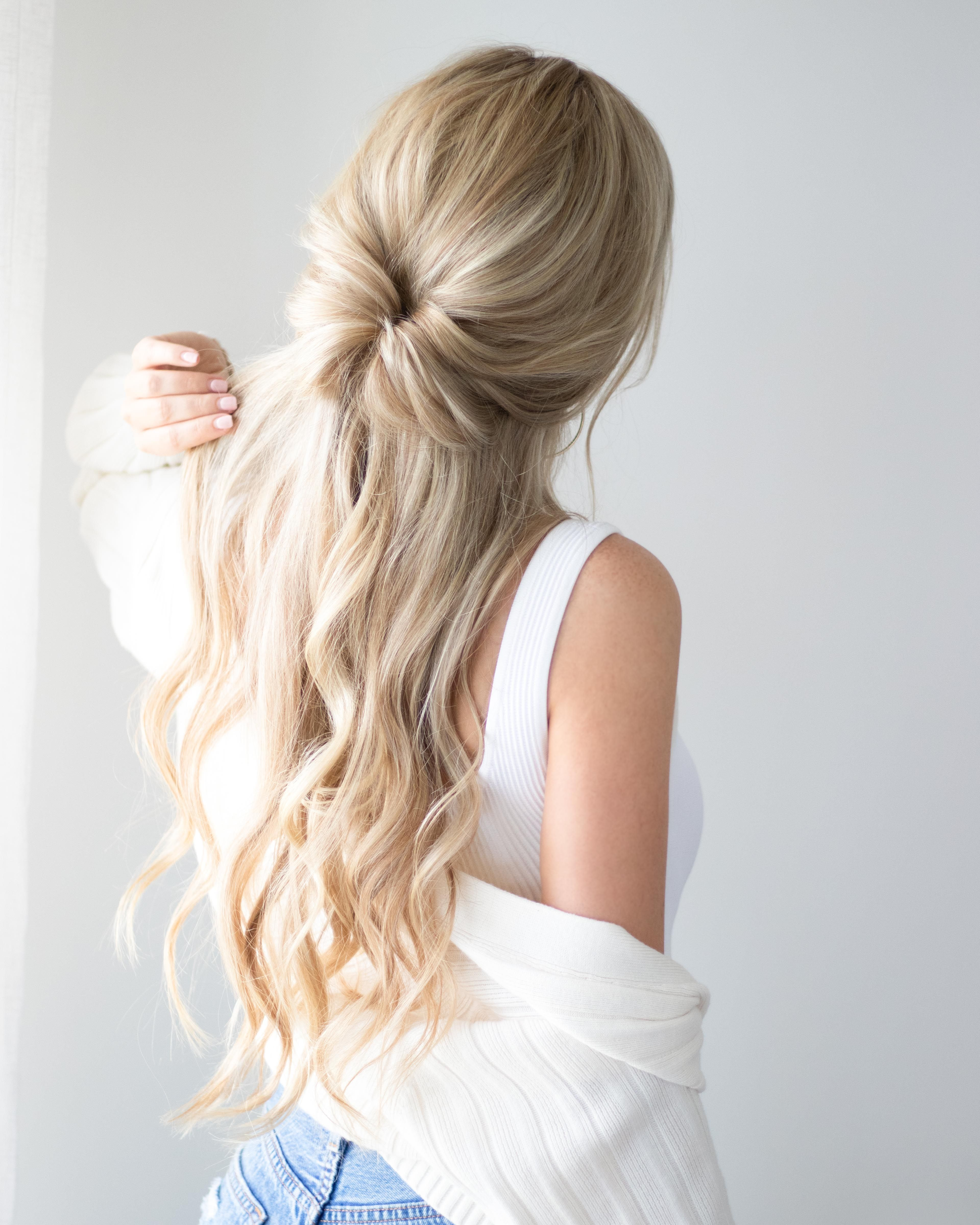 Half Up Half Down Hairstyle Inspo @alexgaboury