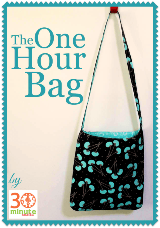 The One Hour Bag Tutorials Bag And Free