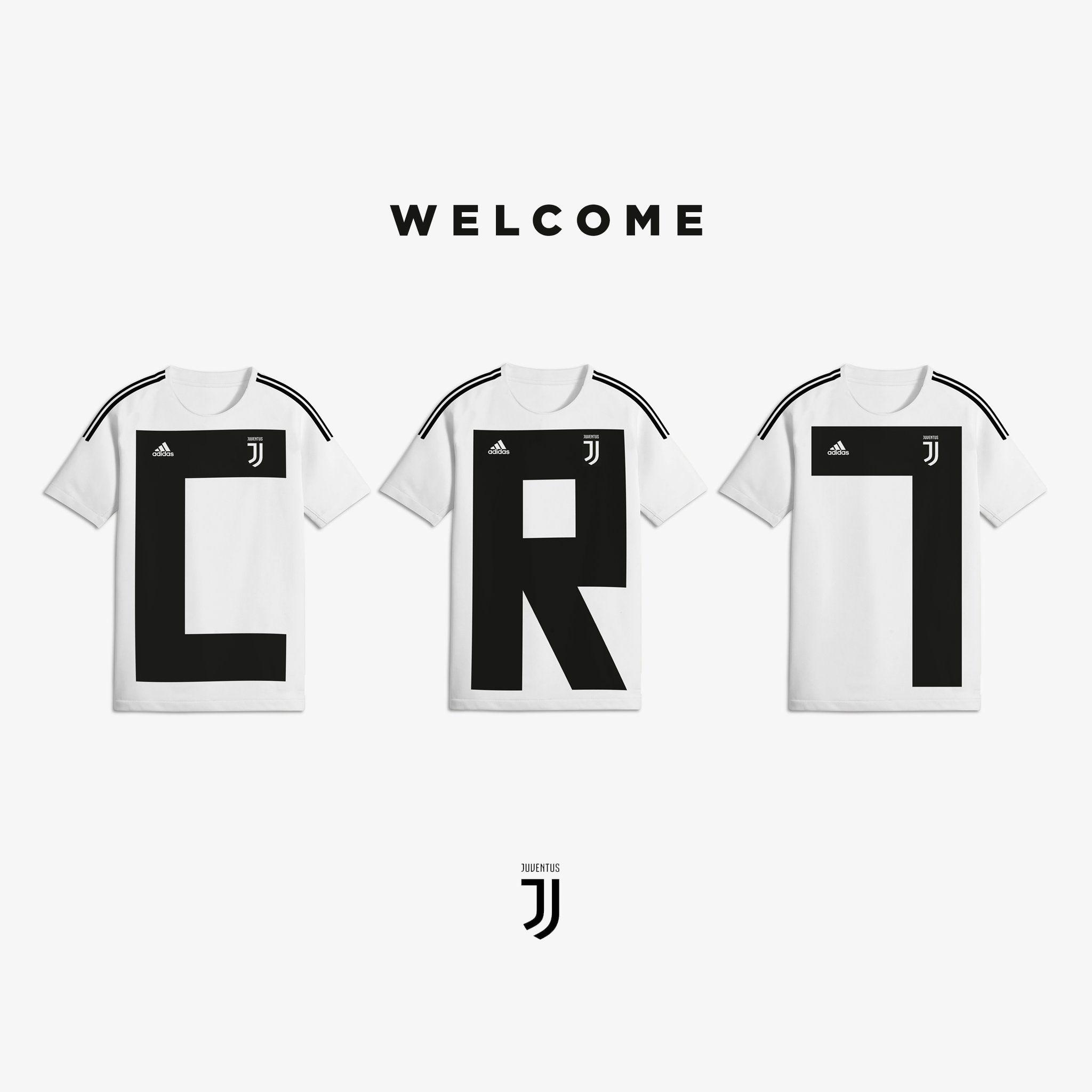 Cristiano Ronaldo Juventus Maglia Tshirt T-shirt #WelcomeToJU ...