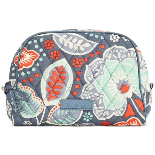 Vera Bradley Medium Zip Cosmetics Case 28 Liked On Polyvore Featuring Beauty Products Accessories Bags Cases Nomadic Fl Wash Bag