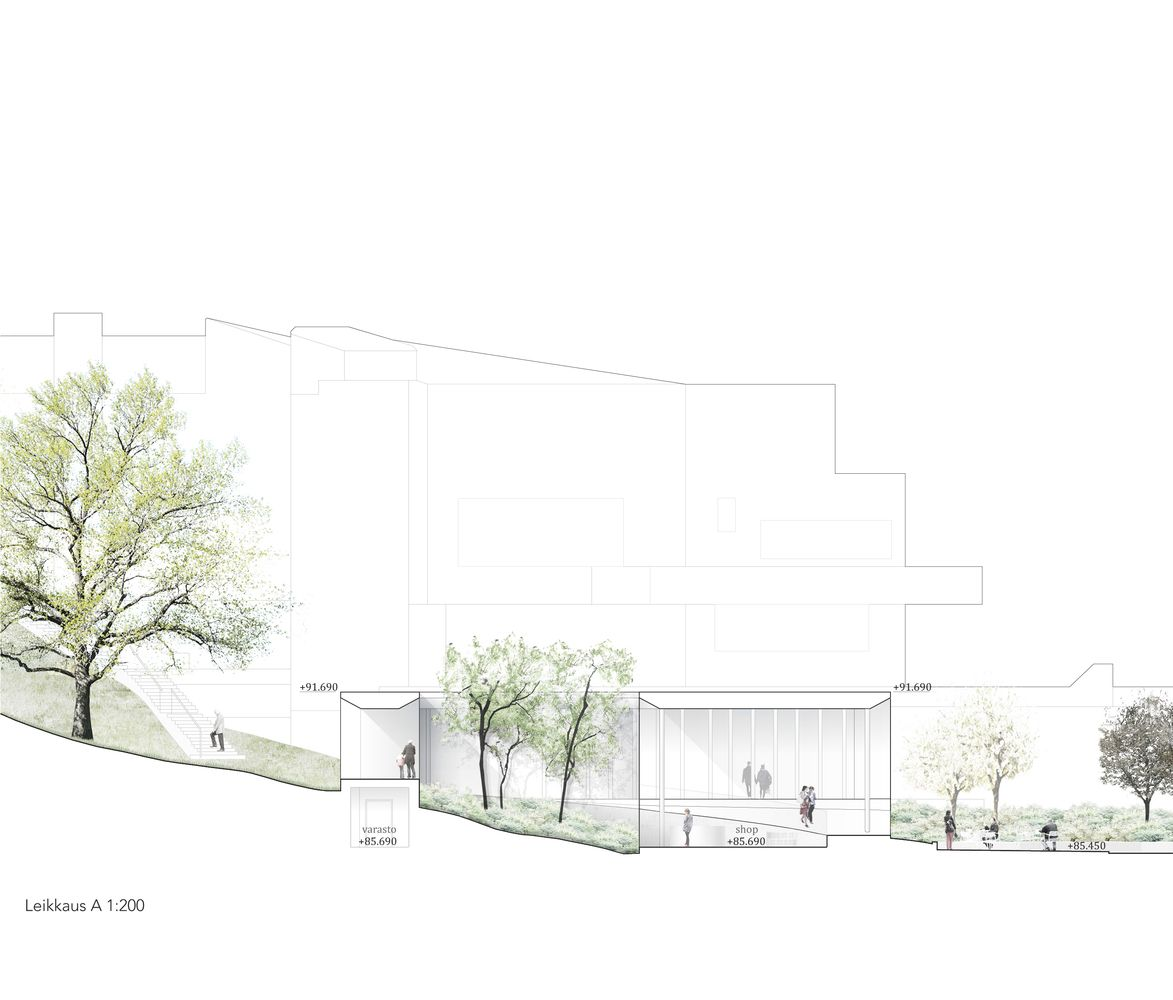 Gallery Of Finnish Architects Win Competition To Connect Two Alvar Aalto Museums 1 Fachadas Urbanismo Arquitetura
