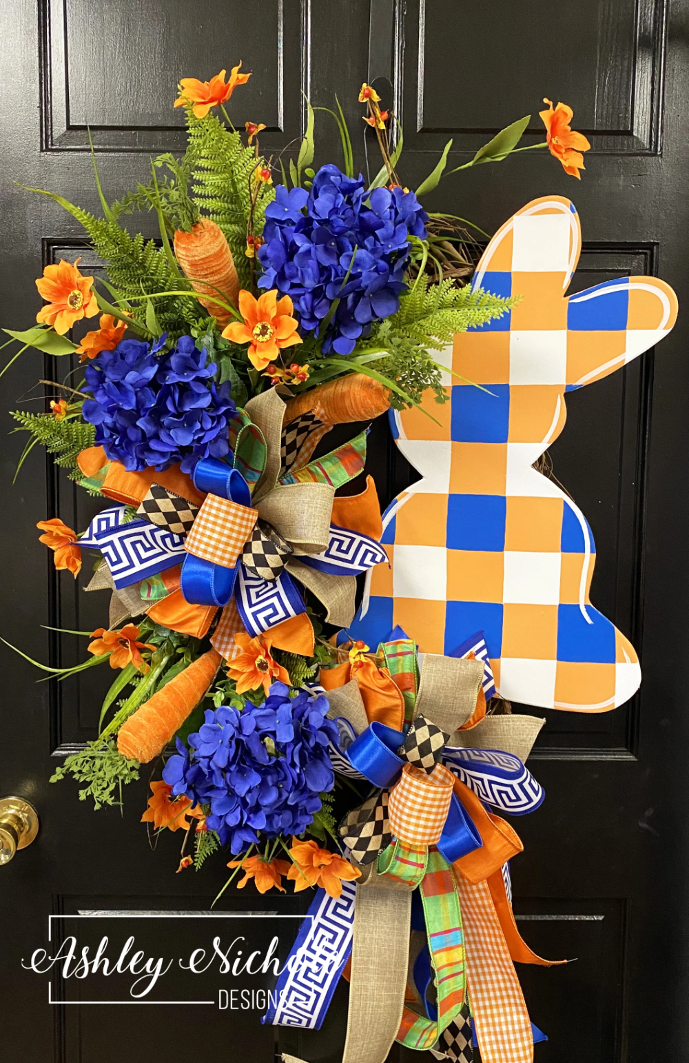Photo of Carrot, Hydrangea & Bunny Easter Wreath