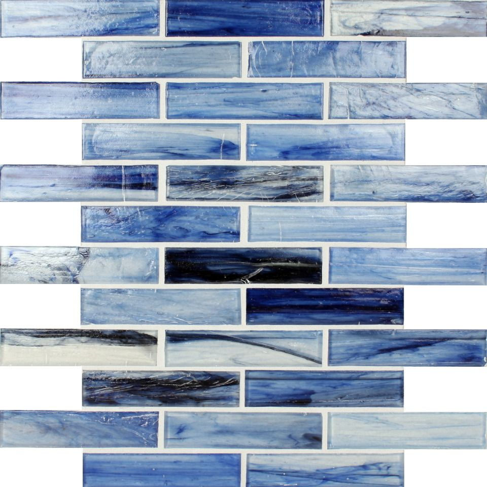 KItchen Backsplash Stone & Pewter Brand Glass tile, 1x4, Tozen ...