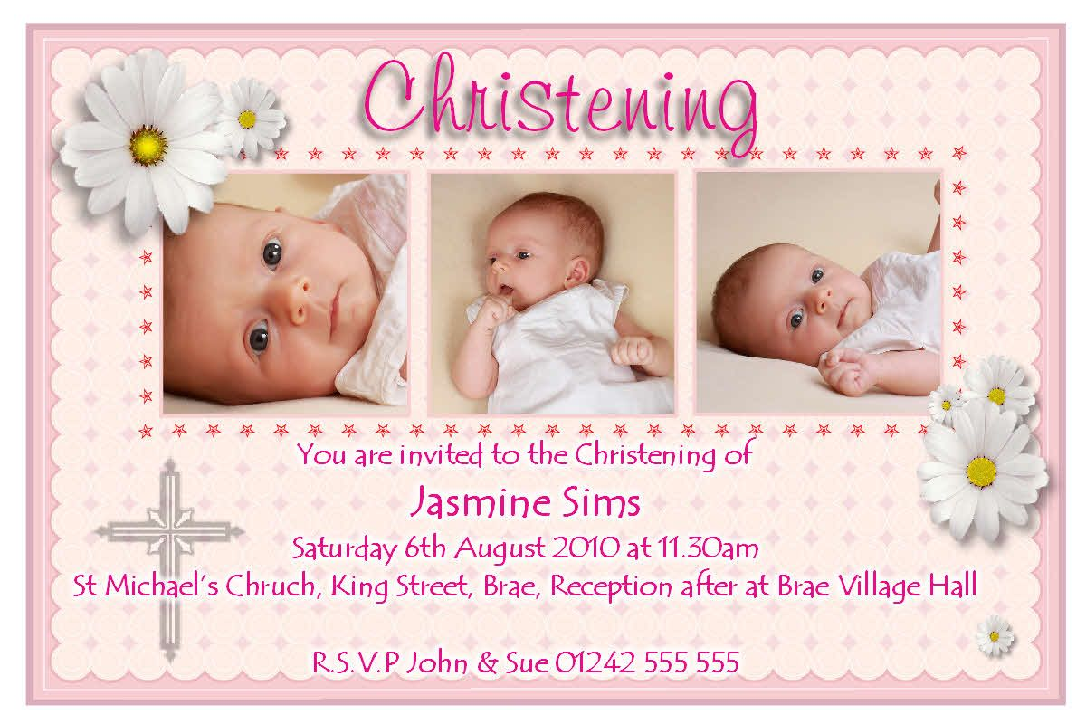 add a picture of your precious child to make your Christening ...