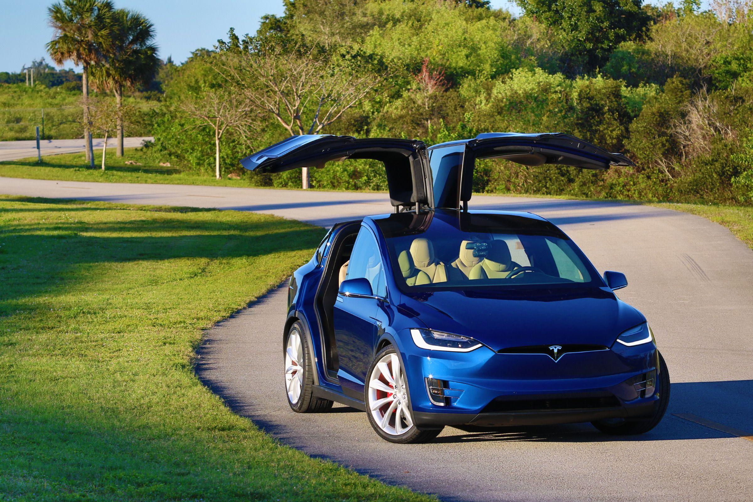 2016 tesla model x small electric suv price range - 2016 Tesla Model X Deep Blue Metallic Picture Gallery