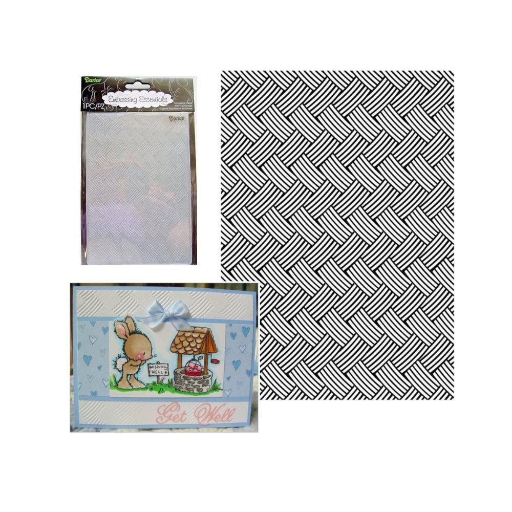 Diamond Plate Embossing Folder Darice Cuttlebug Compatible Folders 1218-101