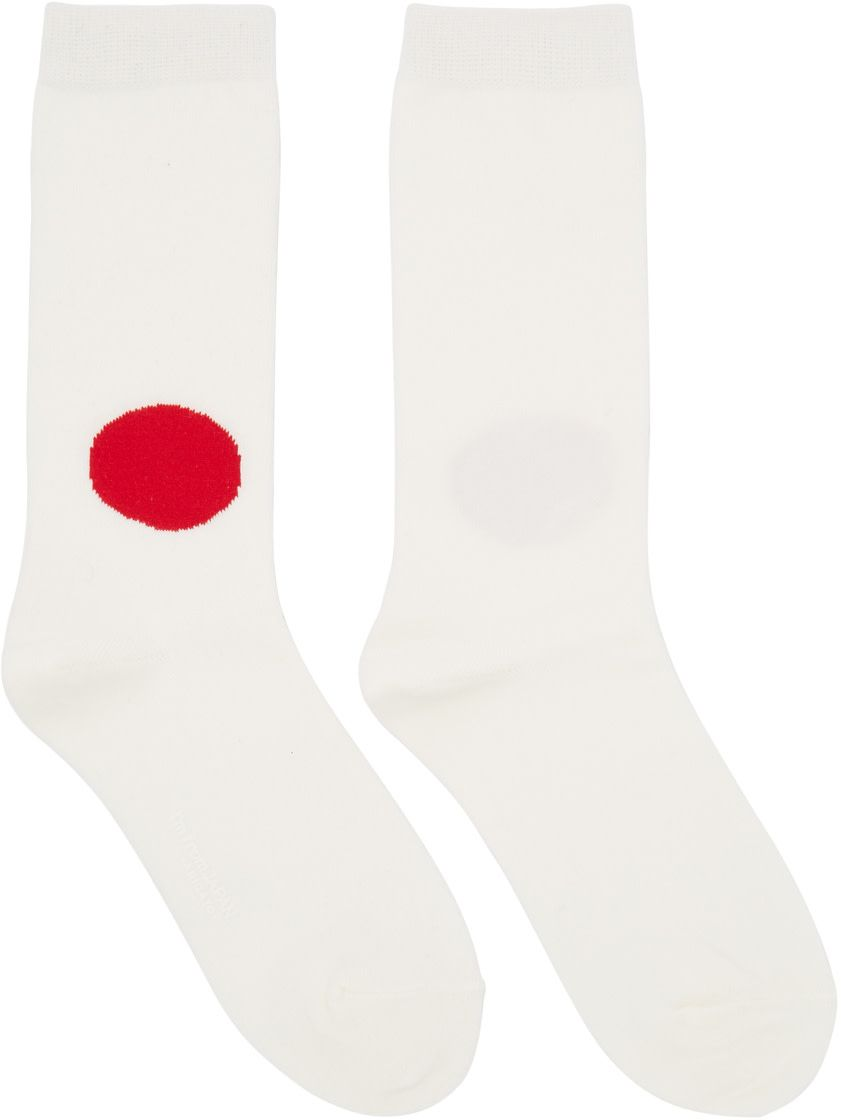 Off-White and Red Dot Sock Blue Blue Japan Free Shipping Sneakernews peV9iXO