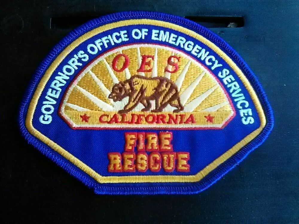 CALIFORNIA OES OFFICE OF EMERGENCY SERVICES FIRE RESCUE PATCH