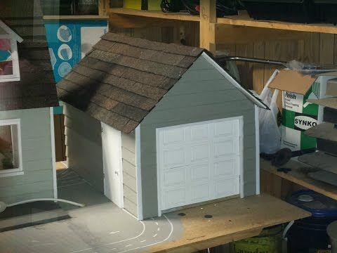How To Make A Doll Garage Door Youtube Garage Doors Diy