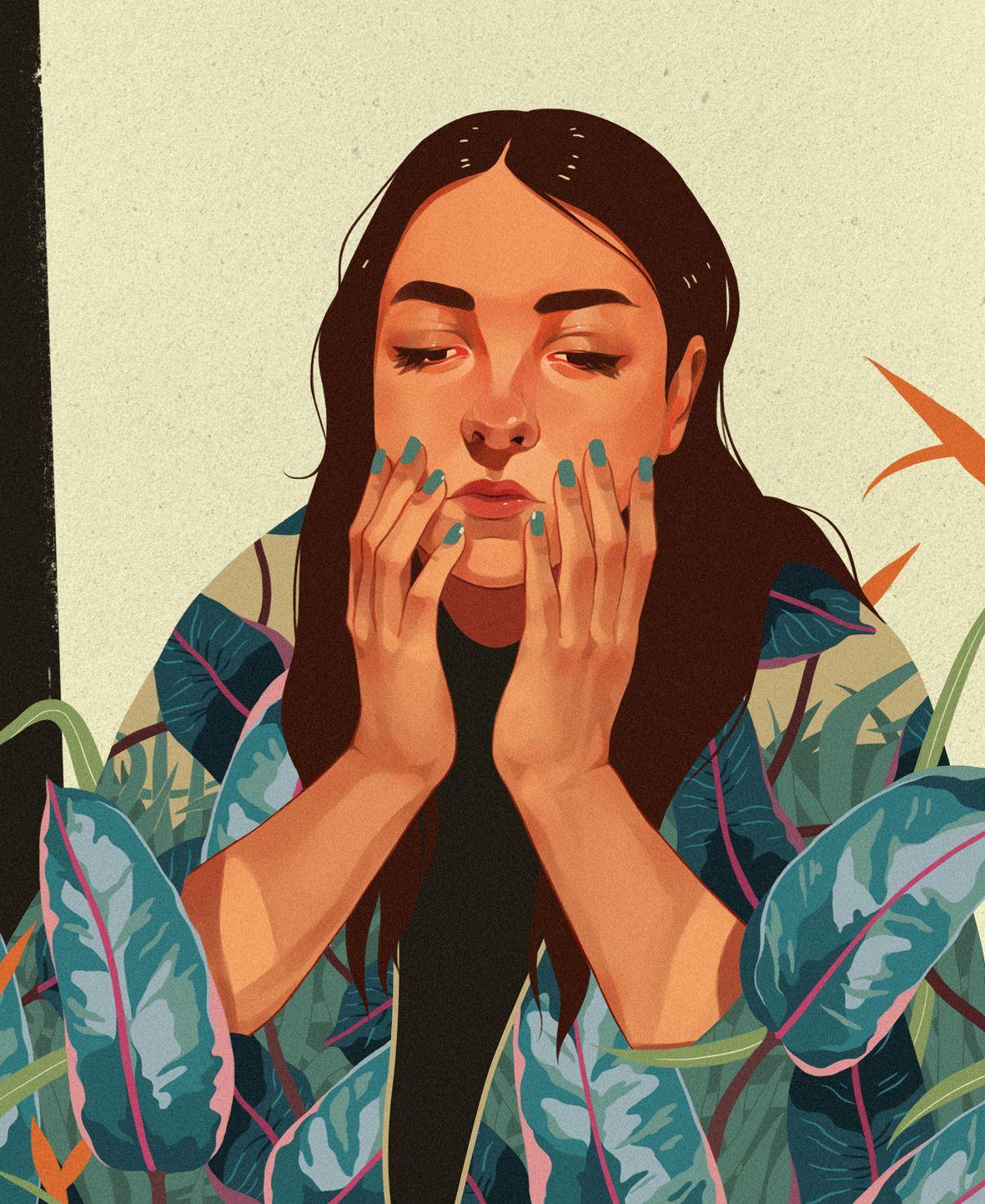 Different Faces, Ana Godis   VISUALGRAPHC   Art, Illustration, Art ...