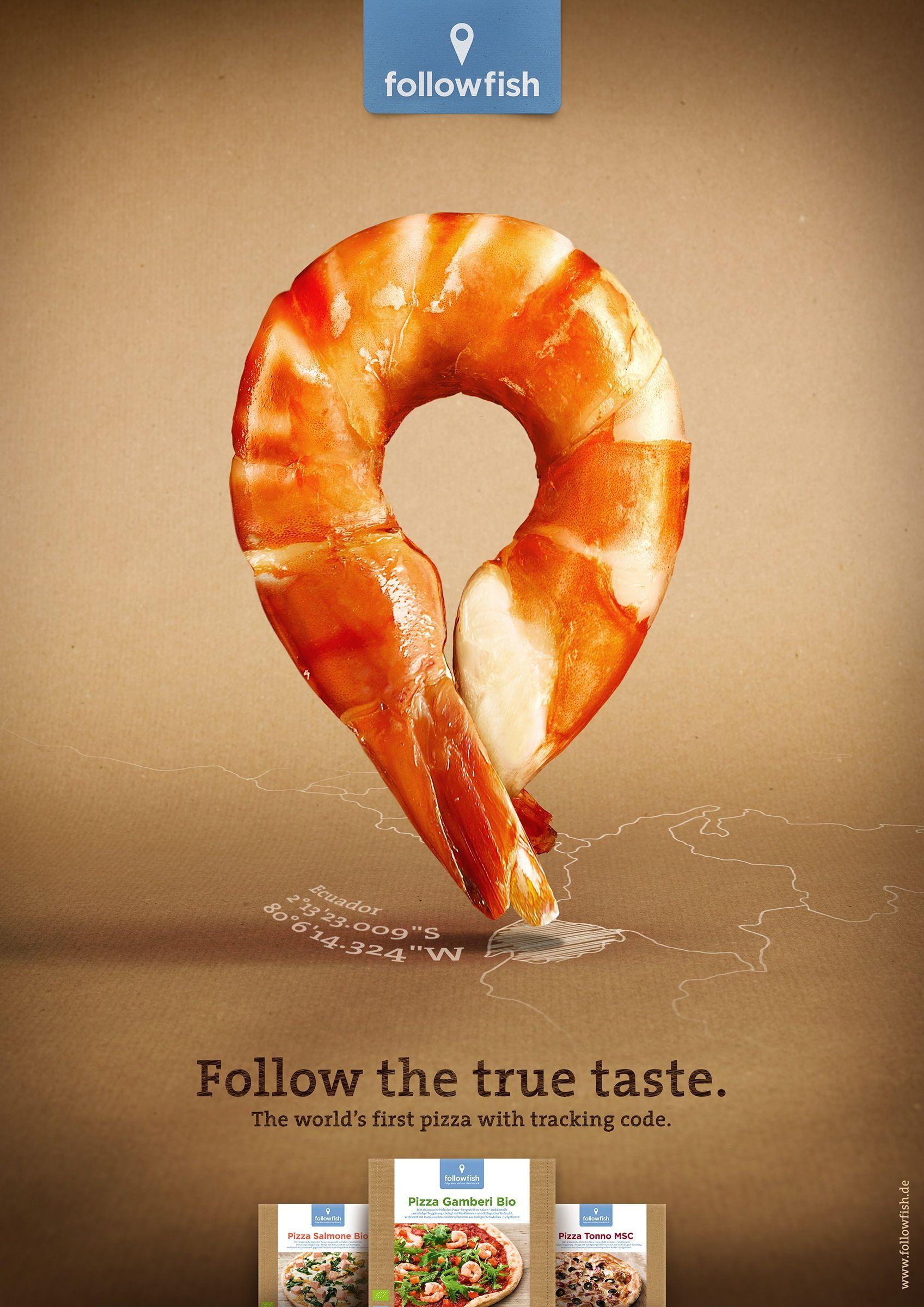 Follow The True Taste Advertising Pinterest Creative