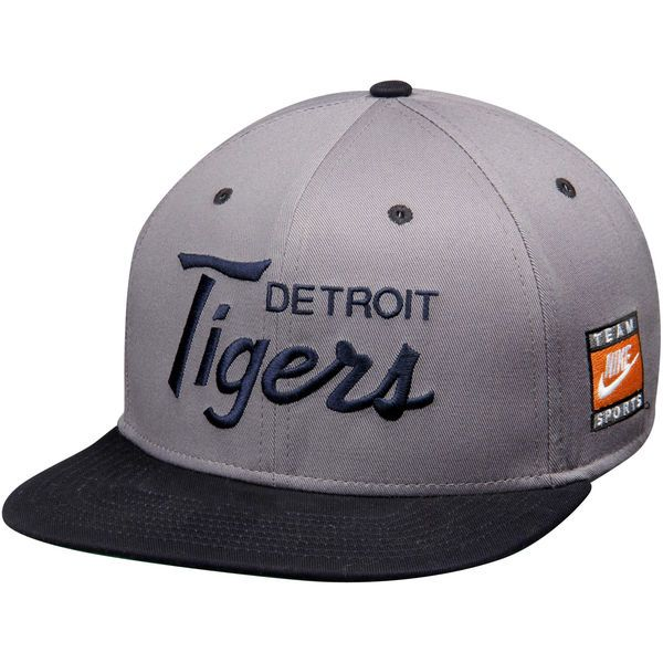 new arrival 9fb5b 77368 Men s Detroit Tigers Nike Anthracite Navy Cooperstown Collection SSC  Throwback Adjustable Snapback Hat, Your