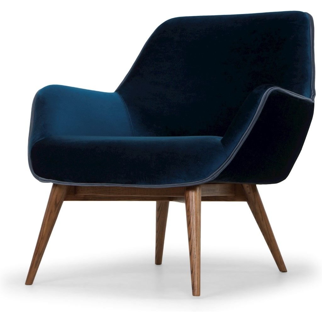 Gretchen Single Seat Sofa In Midnight Blue Fabric Seat Single Seat Sofa Fabric Seat Blue Sofas Living Room