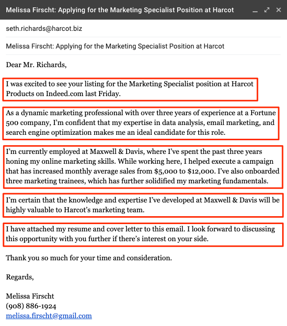 writing an email cover letter sample + 5 expert tips ea resume example iti format doc download dentist free