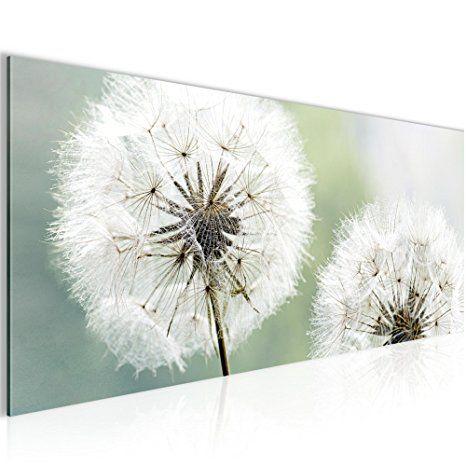 Bilder Blumen Pusteblume Wandbild 100 x 40 cm Vlies - Leinwand Bild
