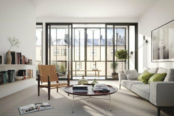Wohnzimmer Wandgestaltung Ideen \u2013Deko für weiße Wand Wohnzimmer - wohnzimmer dekoration grau