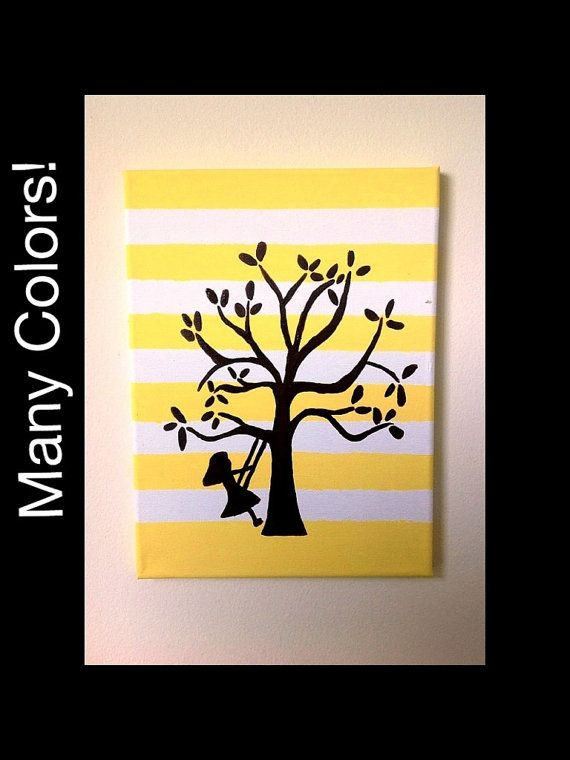 Canvas Art Canvas Wall Art Yellow Nursery Art by TheSisterCraft ...