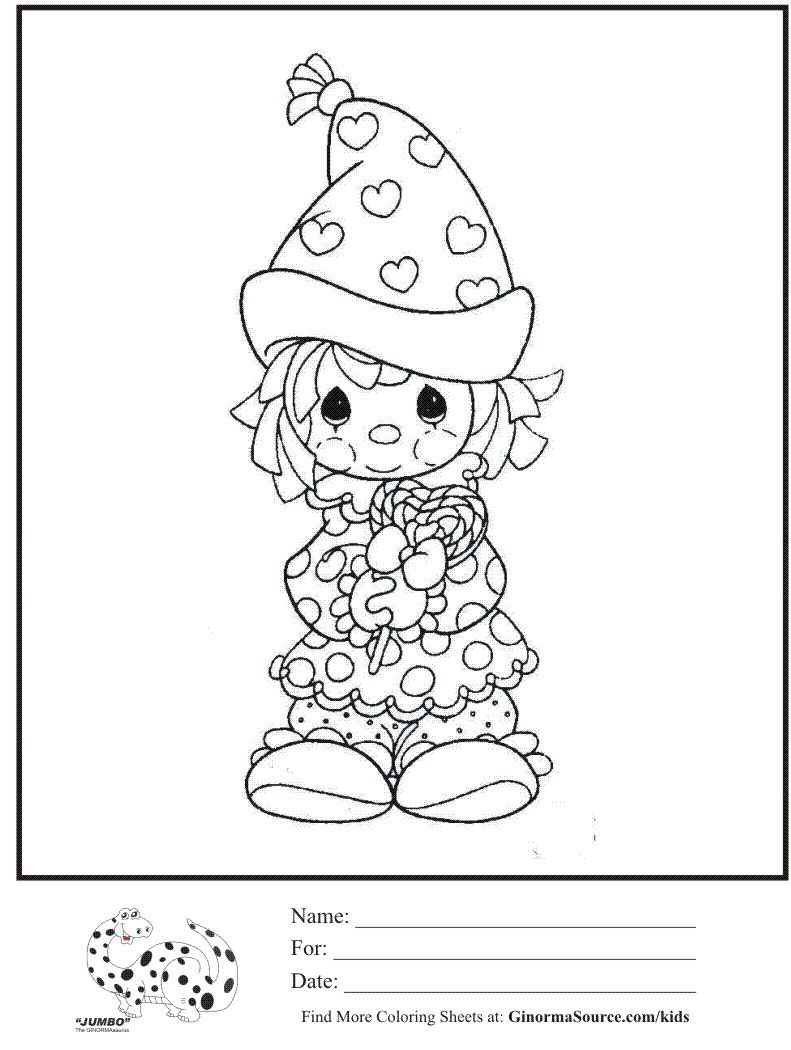 kids coloring page precious moments valentines clown coloring sheetjpg 7911050