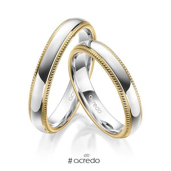 3a27ad39fca4 Alianzas de oro blanco o en platino con oro amarillo  alianzas  boda   oroblanco  platino
