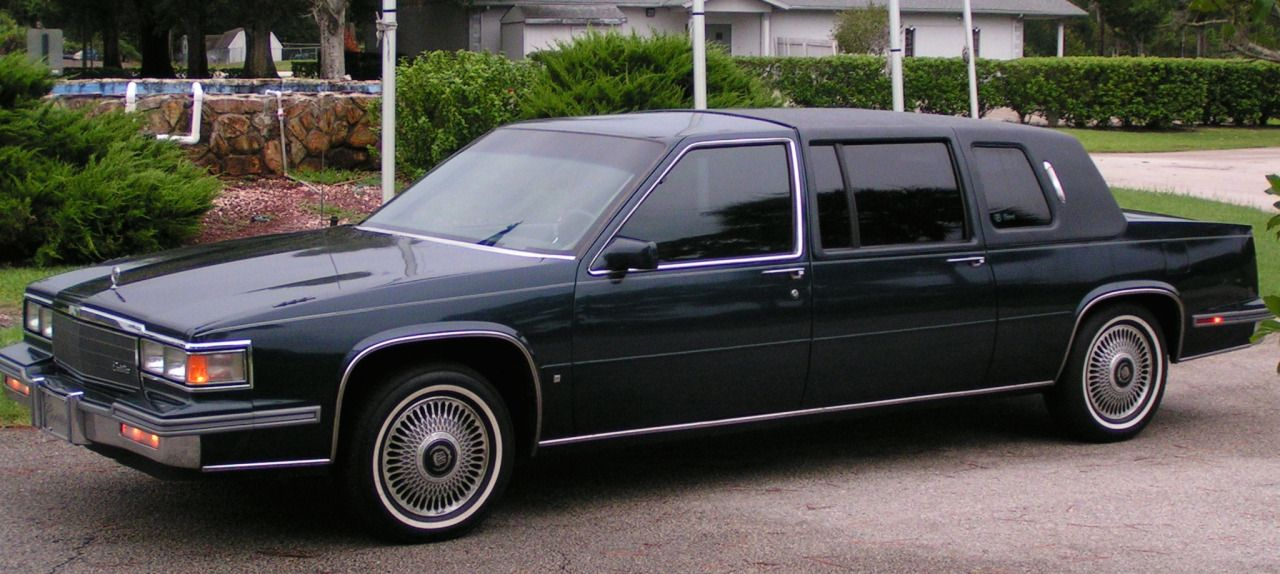 1986 Cadillac factory limousine • ( The wheels in this photo are from the 1989-93 Cadillac )