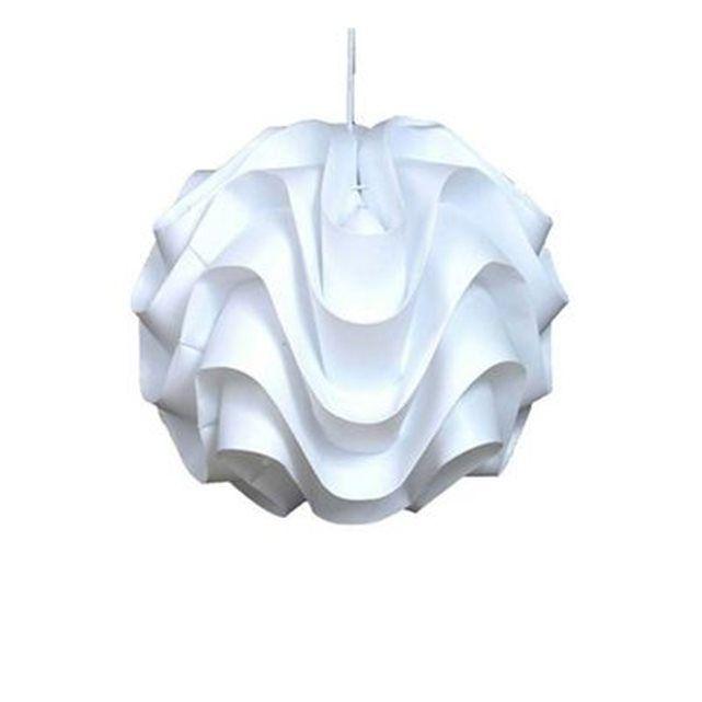 lustre blanc original guipure millumine la redoute mobile id e ha salon pinterest lustre. Black Bedroom Furniture Sets. Home Design Ideas