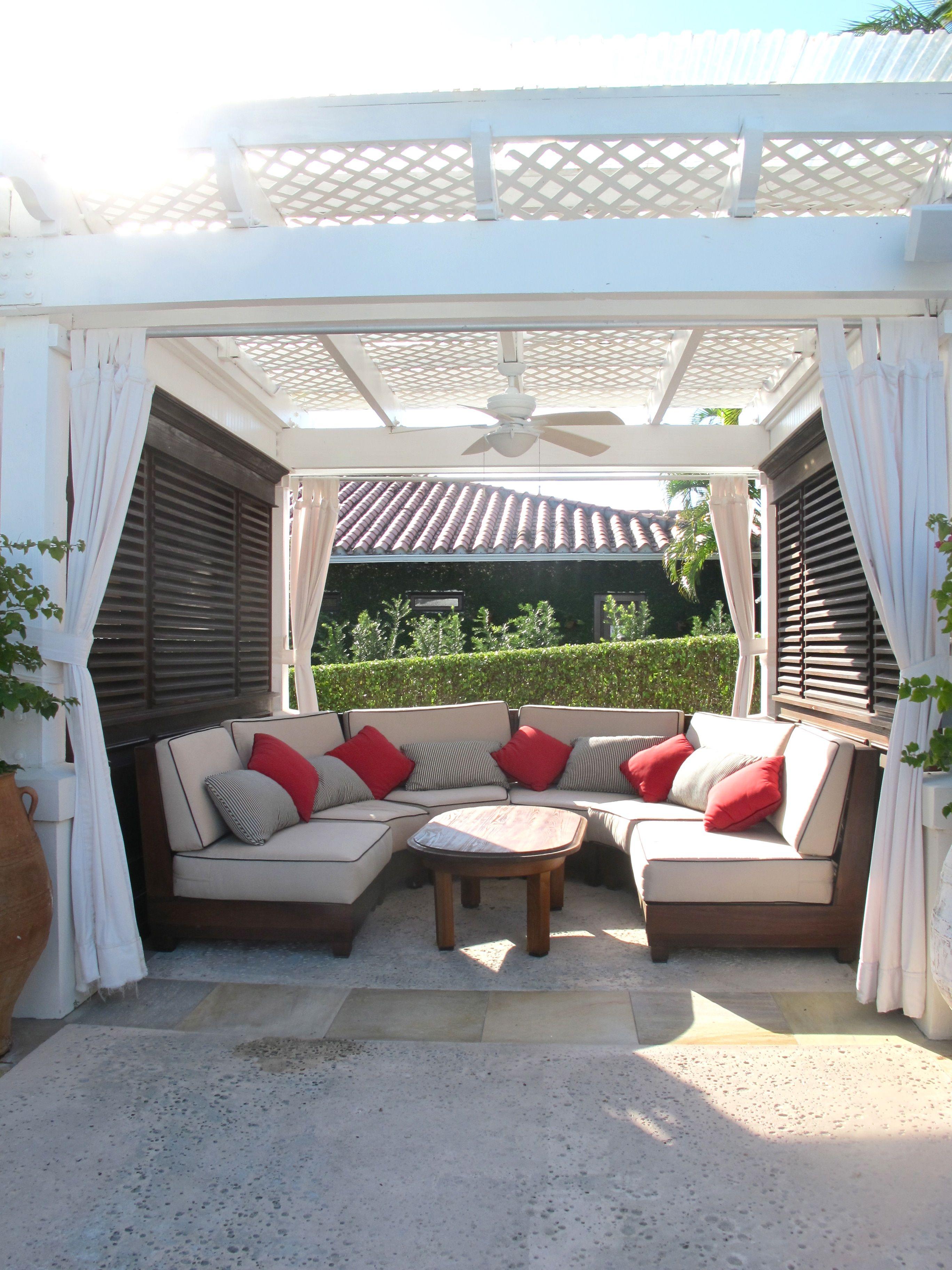 Poolside cabanas | Backyard pool, Backyard pool designs ... on Patio Cabana Ideas id=12074