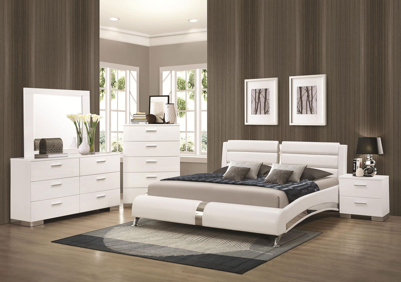Bedroom Ideas - Bedroom Furniture - STANTON-Ultra Modern 5pcs Glossy ...