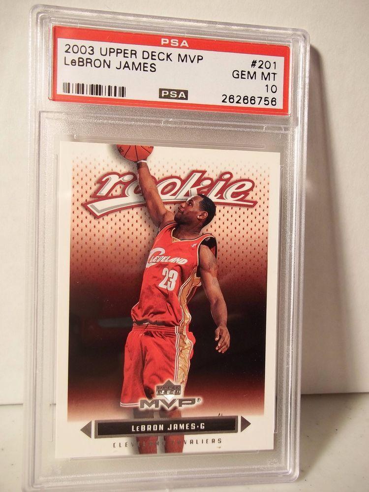 2003 Upper Deck Lebron James Rookie Psa Gem Mint 10 Basketball Card 201 Nba Goldenstatewarriors Lebron James Rookie Lebron James Upper Deck