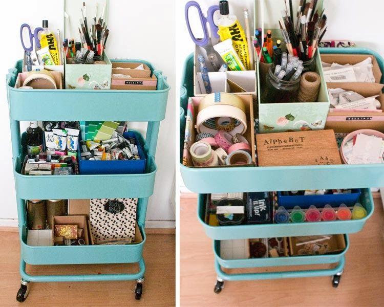 あなたならどう使う Ikeaのキッチンワゴン Raskog の幅広い活用アイディア Office Supplies Packaging Raskog Organize Craft Supplies