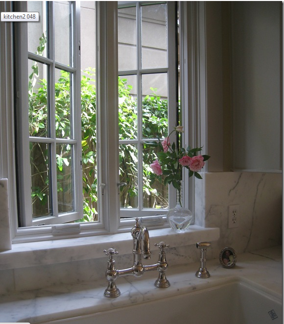 Kitchen ~ Window ~ White Marble ~ French Faucet