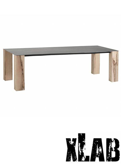 Tavolo da soggiorno gambe legno piano in ferro vintage woodyron ...