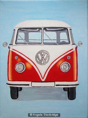 Camper Van Front With Images Vintage Vw Bus Van Drawing Vw Art