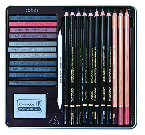 Koh-I-Noor Gioconda 24-Piece Artist Set, Packed In Tin And