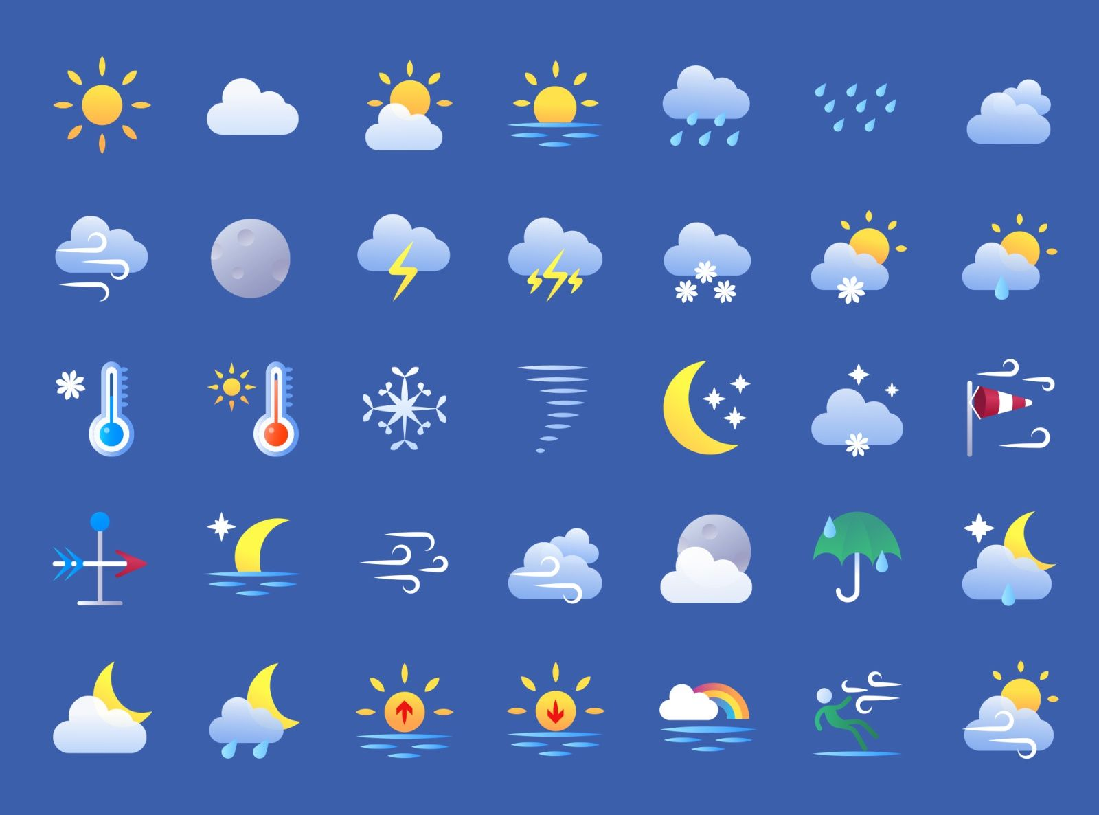 Weather Color Icons Weather Symbols Weather Icon