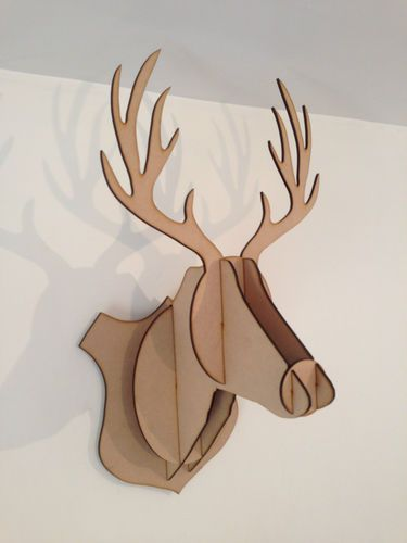 Home Decor Wall Hanging LARGE STAG Head Animal Craft Construction Kit Safari Trophy 3D Wall Art