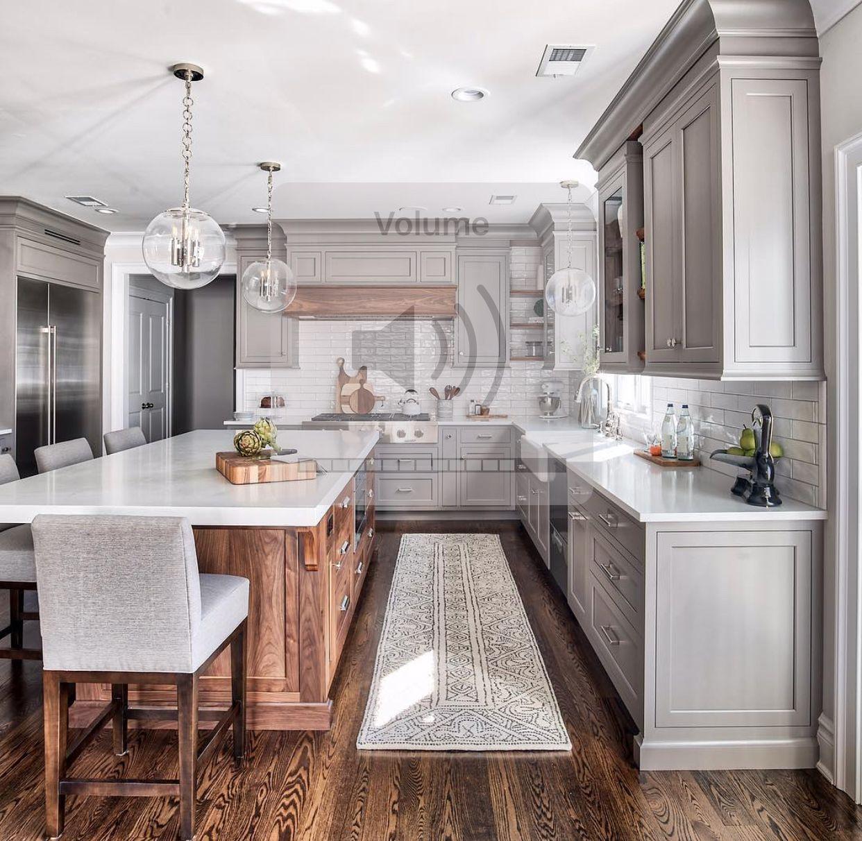 Corner Kitchen With Island: Pin By Cara Brashear On Cabinets