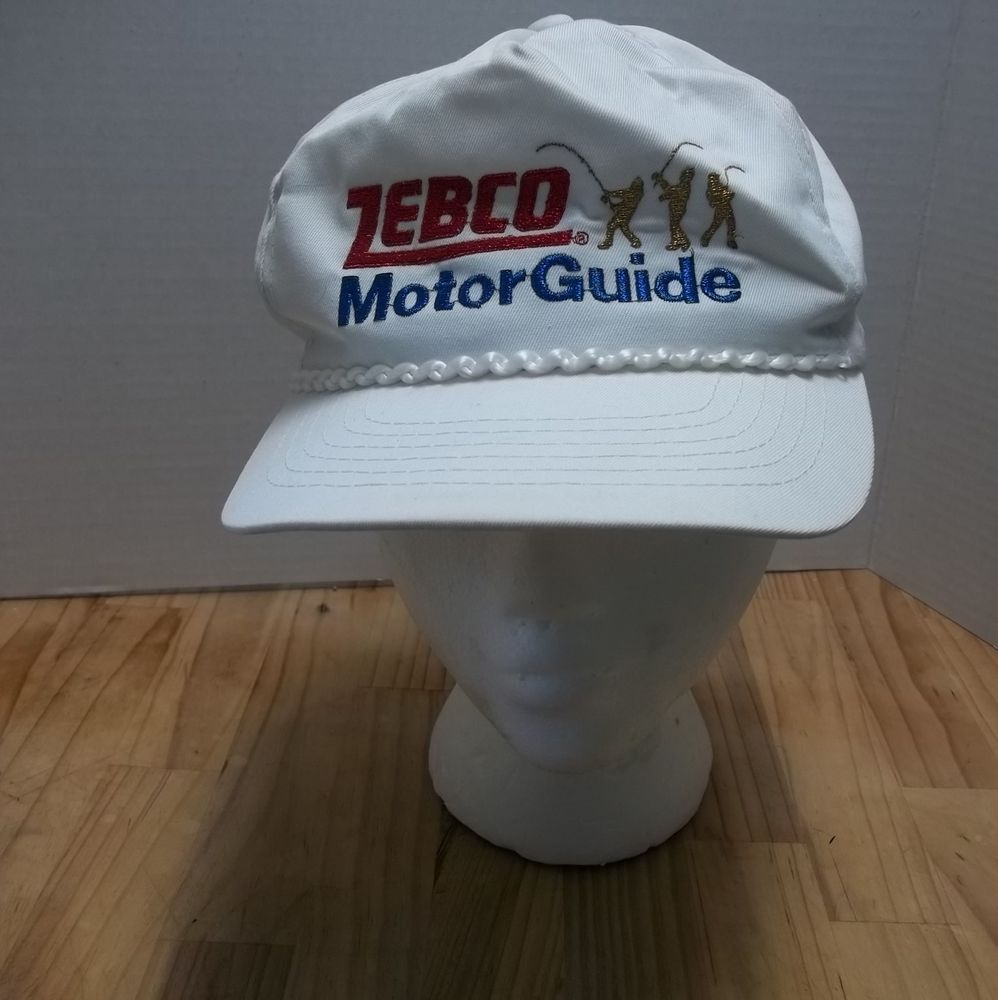 Zebco MotorGuide Motor Guide Snap Back Hat Fishing Trucker Ball Cap Vintage   Cap a8053820d0c8