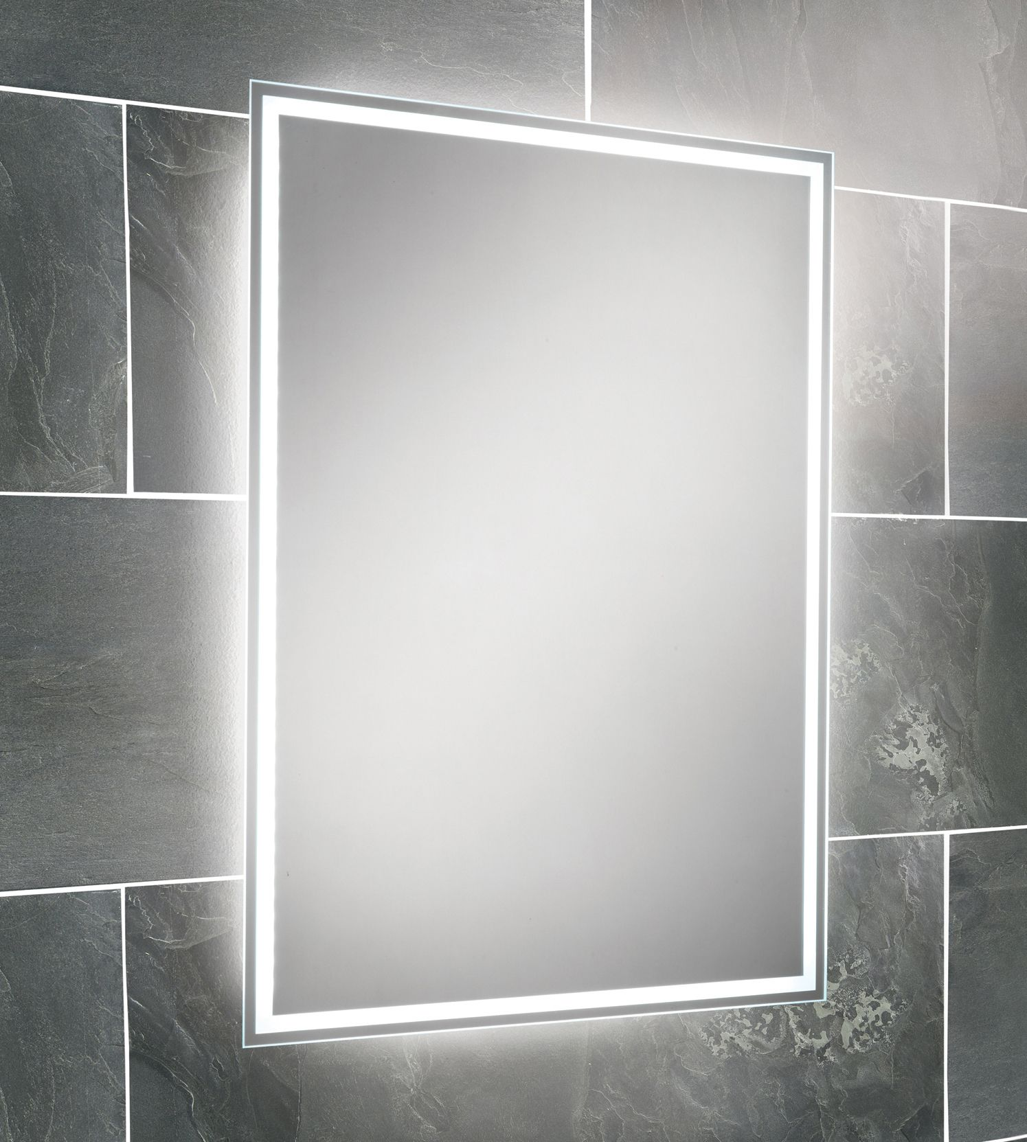 HIB Ella Steam Free LED Back-Lit Bathroom Mirror 700 x 500mm | House ...