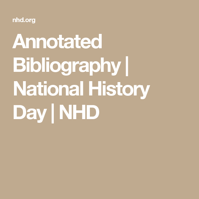 Required Written Materials   National History Day