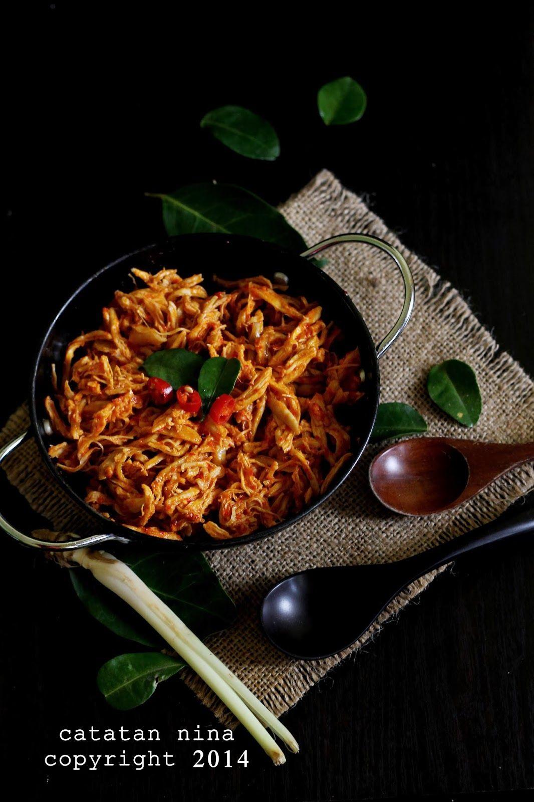 Catatan Nina Ayam Suwir Bumbu Rujak Resep Ayam Resep Masakan Masakan