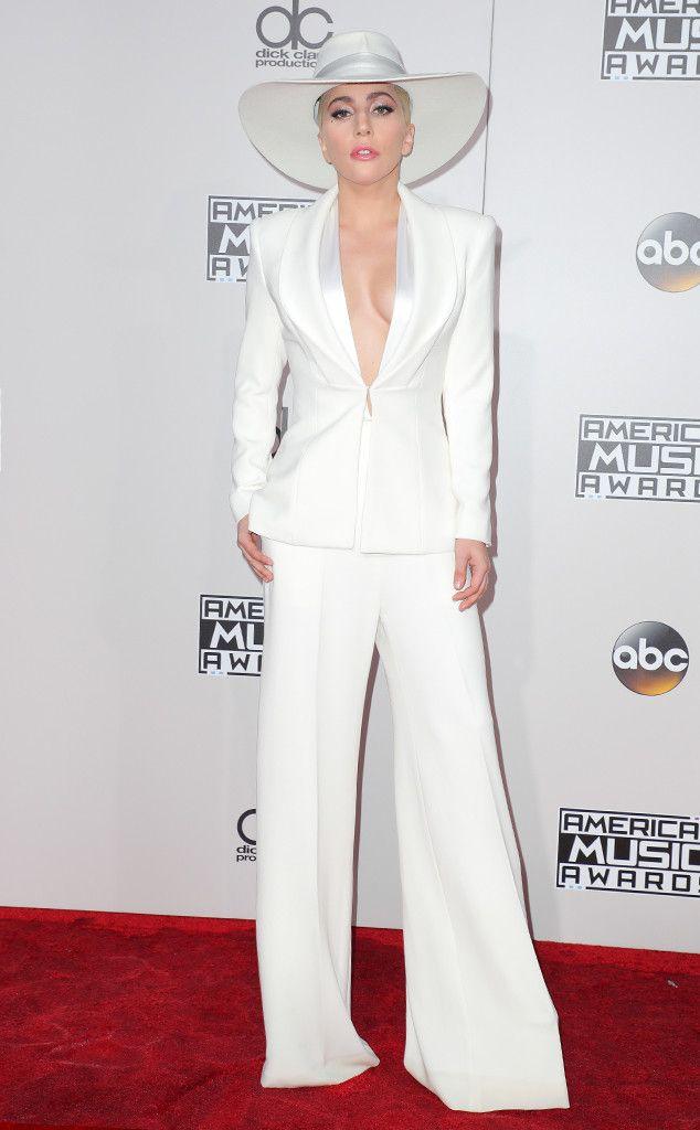8a2e09733ce7 Lady Gaga in Brandon Maxwell   2016 AMAs Red Carpet Arrivals - November 20
