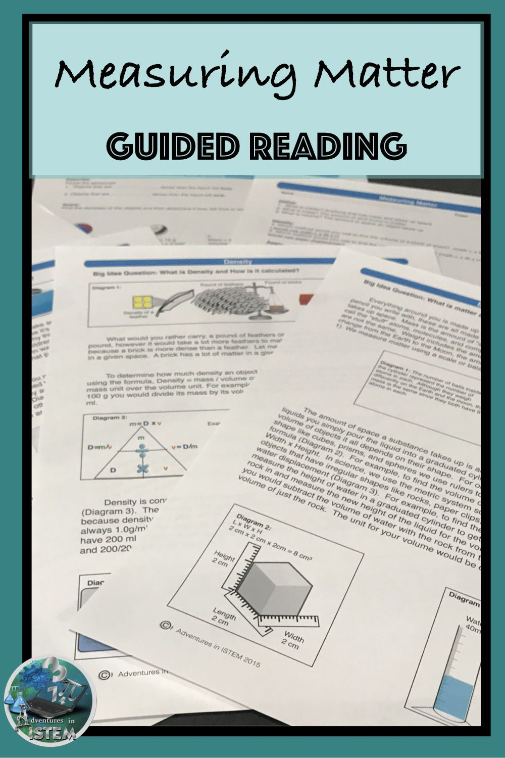 Measuring Matter   Density   Guided Reading   Close Read ...