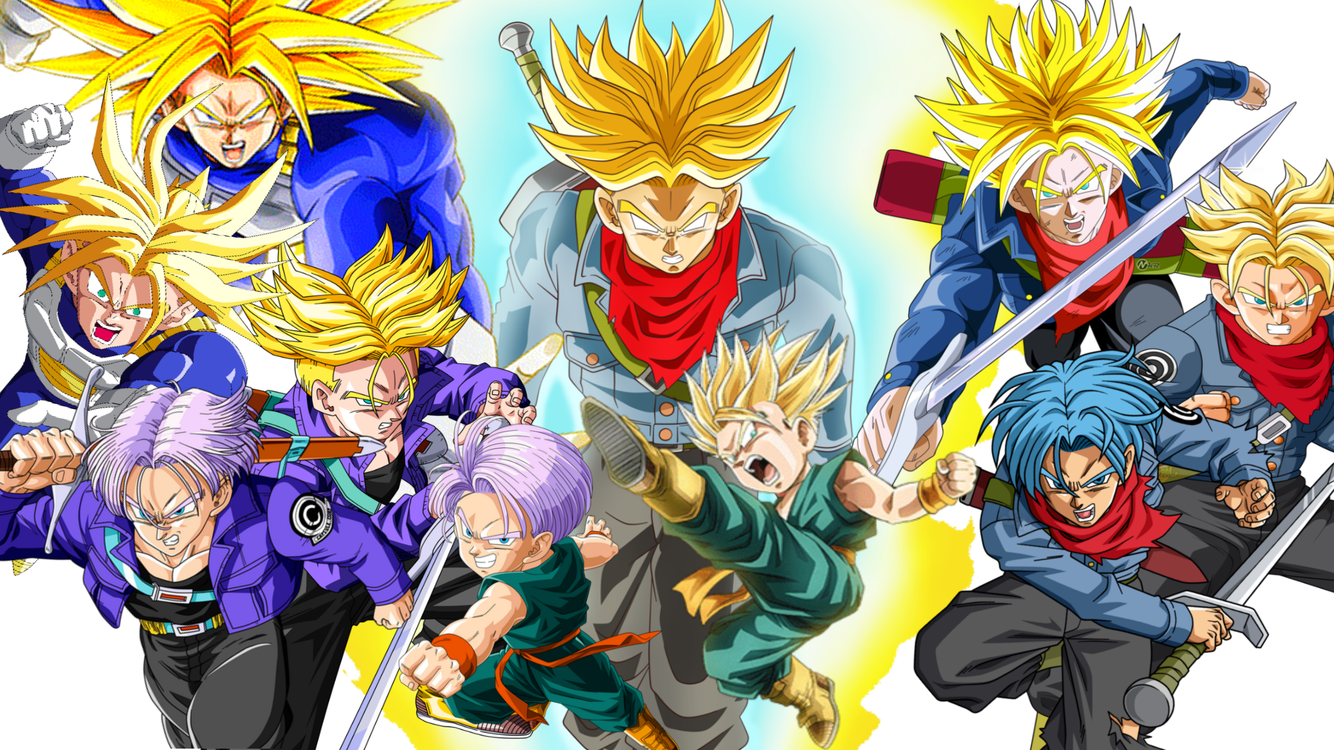 dragon ball dragon ball z dragon ball super trunks forms